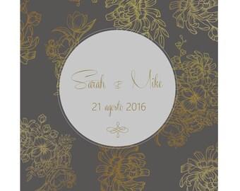 Modern & Elegant Wedding Invitation / Partecipazioni Matrimonio | Printable Wedding Invitation