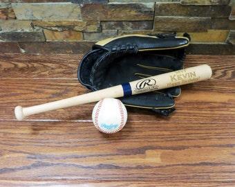 Personalized Mini Baseball Bat- Ring bearer- Gift for Kids- Birthday Gift- Groomsmen Gift - Nephew - Christmas