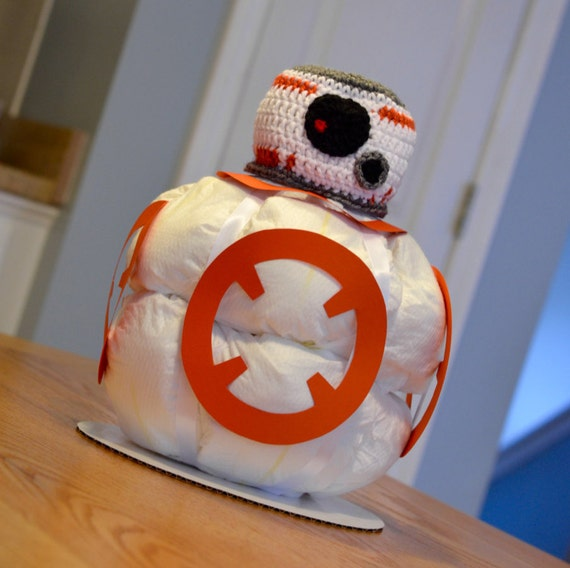 star wars diaper cake bb 8 baby shower centerpiece decoration gift