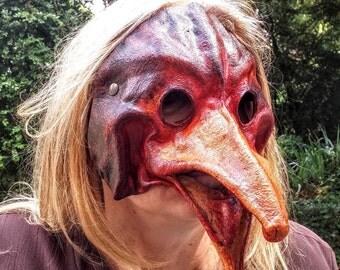 Maschera in pelle - Gallina - Vari colori