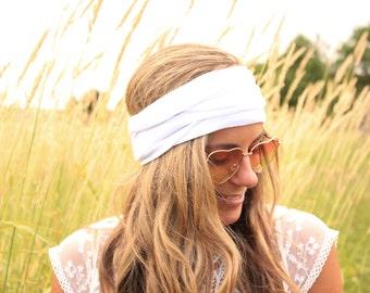 Buy 2 Get 1 FREE!! White Wonder, Yoga Headbands, Workout Headwrap, Running Headband, Adult Headband, Boho Hairband,