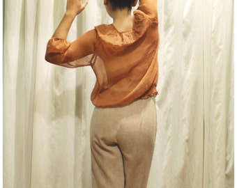70s Inspired Lady of The Canyon Sheer Tunic