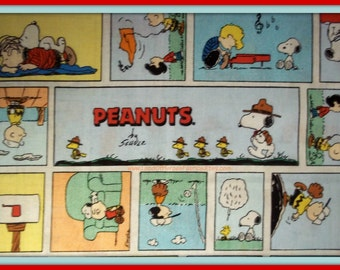 Peanuts Comic Scene, Just like the Sunday paper - from Springs Creative Products - Now OOP - Sold by the Fat Quarter, Half-Yard or Yard
