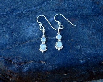 Moonstone & Sterling Silver Earrings - #50