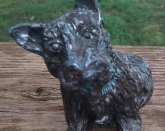 On Sale Metal Cast Scottie/Terrier/Dog Figure/Collectible/Puppy/Puppies/Scottie Dog?Schnauzer/Statue/Figurine
