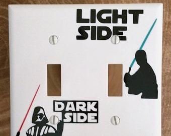 Star Wars Light Switch, Double Star Wars Light Switch,  Darth Vador, Luke Skywalker, Disney, Light Switch, Cover, Star Wars,Home Decor
