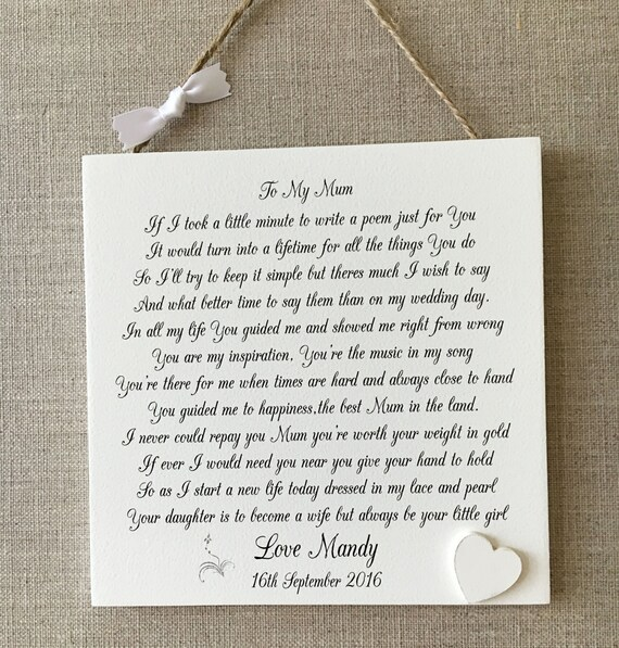 thank you letter groom parents mother the bride wedding shabby chic sign wooden plaque gift outfits and dresses for brides groom modes eventwear