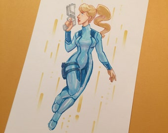 Zero Suit Samus - Illustration