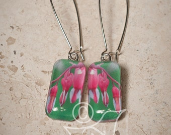 Bleeding Hearts  • original art earrings
