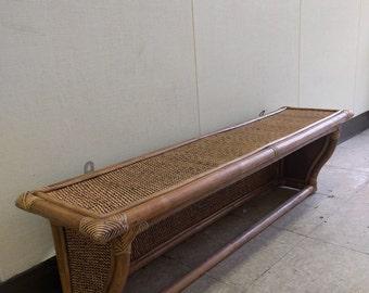 Natural Rattan Shelf (Long)