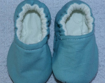 Girls Baby Pram Shoes - Aqua