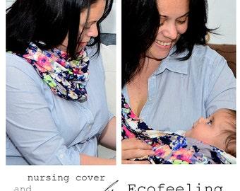 Nursing cover scarf/Nursing cover/Nursing scarf/Breastfeeding cover/Nursing Shawl/Modern mom
