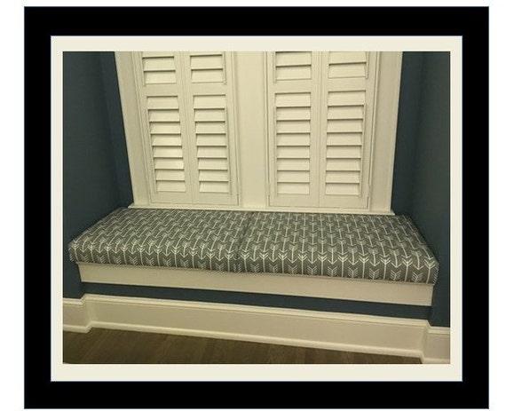 Custom window seat cushion by madisonalliedesigns on etsy - Window seat cushions indoor ...