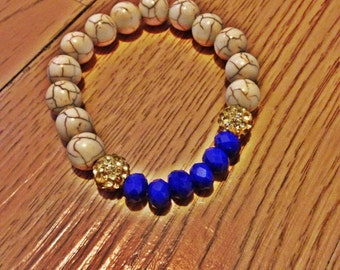 Beaded stretch bracelet