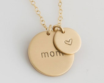 Mother's Day Gift/Personalized Mama Jewelry/ Mother's Day Gift for Mommy/Gift for New Mom Necklace/ Personalized Disc Necklace/ Gift for Her