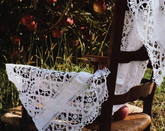 crochet lace curtain etsy