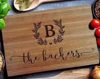 Personalized cutting board, Custo cutting board, Wedding persomnalized gift, Howsewarming gift, Anniversary gift, Engagement (159)