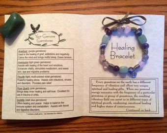 Healing Gemstone Bracelet, Healing, Energy