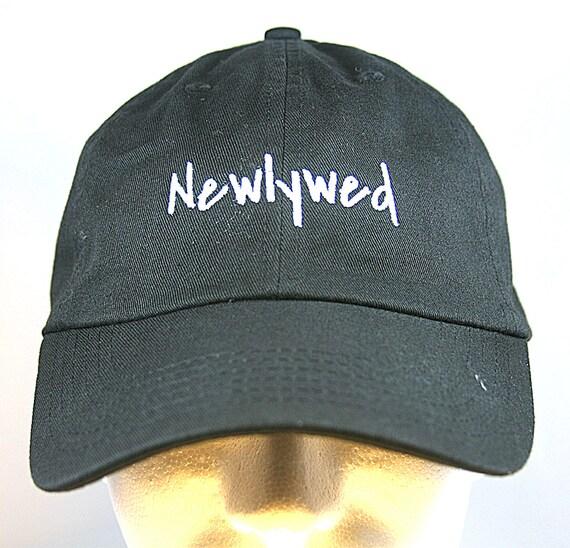 Newlywed - Ball Cap (Black with White Stitching)