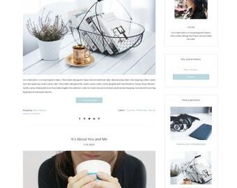 Premade Blogger Template - Responsive Template - Blog Theme - Blogspot