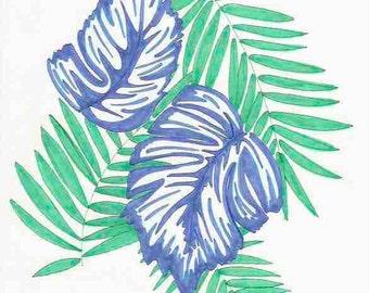 Tropical Leaves Print