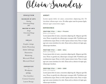 Modern CV Design | Student Resume | CV Template Mac | Creative CV Design |  Resume  Resume Header Template