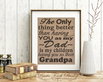 Fathers Day gift, Gift for Father, Gift for Dad, Dad Birthday gift, Father's Day present, Grandpa gift, Birthday gift for dad, Father sign