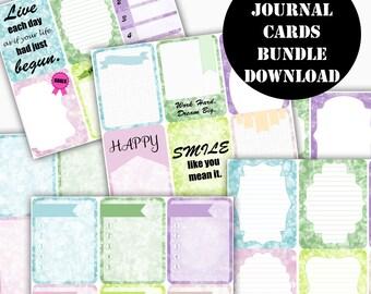 Bokeh Printable Journal Cards Bundle // Erin Condren Life Planner / Kikki / Plum Paper Planner / Midori Insert / Planner Insert