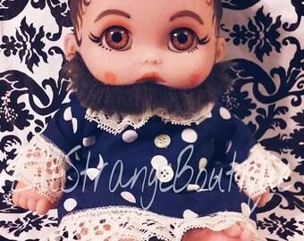 Bearded Lady OOAK freakshow theme doll