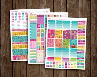 DELUXE Birthday Weekly Kit | PRINTABLE pdf jpg | Birthday Stickers | Birthday Kit | Birthday Planner Stickers | BDay | fits Erin Condren
