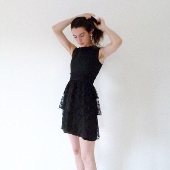 60s Pretty In Ink Mini Lace dress