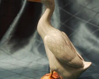 Vintage Chinese Porcelain Celadon Duck