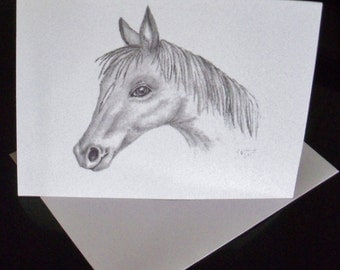 Horse Greeting Card/ Horse Note Card/ Stationery N25