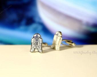 Star Wars Cufflinks Mens 3D R2D2 Darth Vader Movie Cuff links Novelty Fathers Anniversary Wedding Groomsman Gifts for him