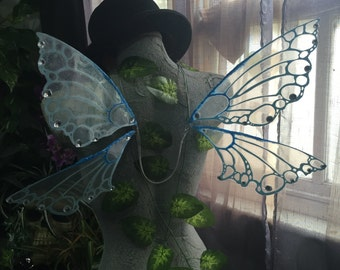 Blue Glitterless Pixie Wings