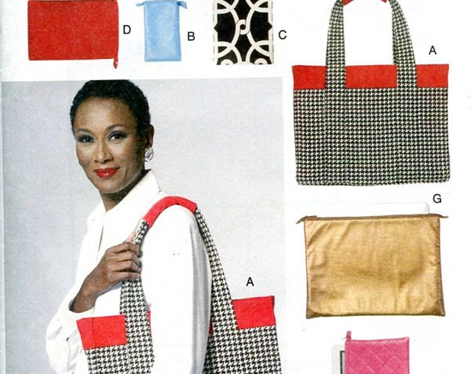 Free US Ship Vogue 8802 Tote Purse Planner Electronics Bag for Ipad Kindle Tablet Cell Phone New Out of Print 2012 Sewing Pattern