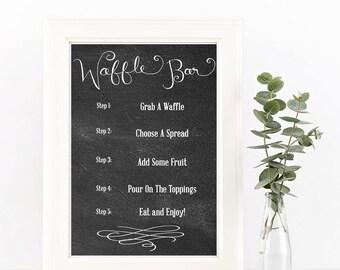 Waffle Bar Sign || Brunch Sign || Print