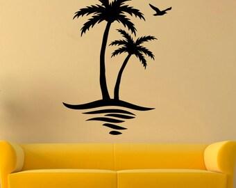 Palm Wall Decal Palm Tree Vinyl Sticker Tree Stickers Wall Vinyl Decor /8qpw/