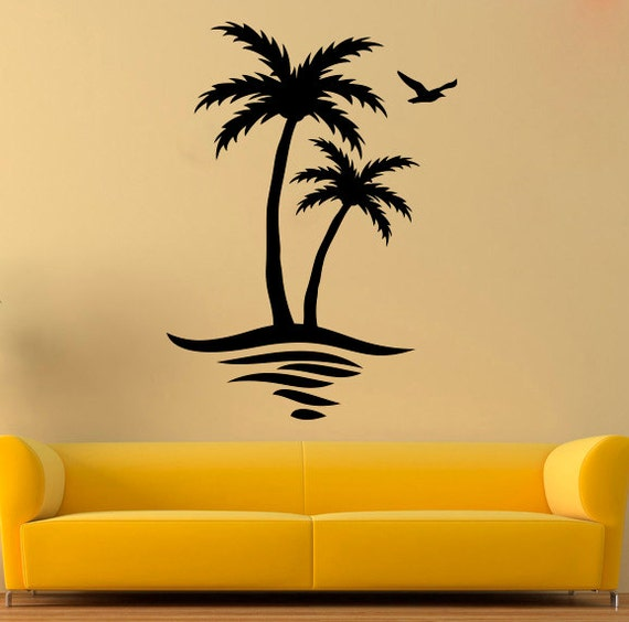 palm wall decal palm tree vinyl sticker tree stickers wall. Black Bedroom Furniture Sets. Home Design Ideas