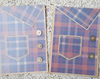 Small Checked Shirt Fathers Day Card