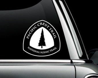 Pacific Crest Trail Logo Decal- National Scenic Trail PCT Logo Vinyl Decal- Hiking Sticker