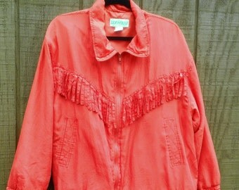 FREE SHIPPING !!! Cowgirl in red silk jacket !