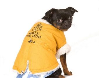 Dog Sheepskin Jacket - Dog Coat - Dog Clothing - Pet Clothes - Available to Any Breed
