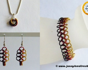 German flag colors, jewelry, Chainmaille