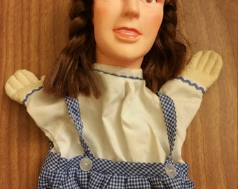 1988 Wizard of Oz Dorothy hand puppet