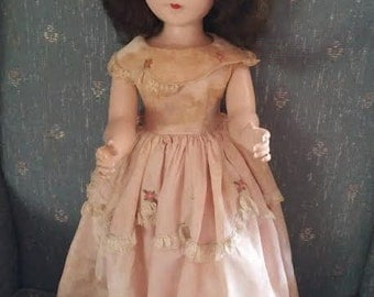 Reduced Vintage Doll Hard Plastic Walker Doll American Character Doll Sweet Sue? Original Clothing
