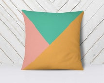 Stamped Triangles Pillowcase, Minimalist Geometrical Pillow, Color Block Pillow, Decorative Pillows For Bedroom, Dorm, Nursery Modern Pillow