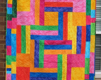 Psychedelic Throw Quilt