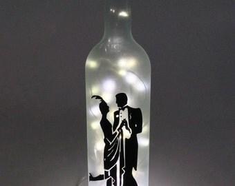 Charleston Wine Bottle Lamp / Dancing Couple / 1920s / Ballroom / Gift Ideas