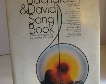 The Bacharach & David Song Book, Vintage 1970 publication,hard-back, for Piano-Vocal-Guitar; 37 all-time hits, 127 pages of sheet music